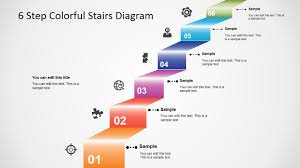 Number Stairs by 6 Step Colorful Stairs Diagram For Powerpoint Slidemodel