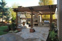Austin Decks And Patios This Craftsman Style House Backyard Pergola Grilling Station