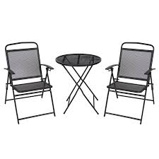 Patio Bistro Chairs 3 Pc Patio Bistro Set Outdoor Table And Chairs Wrough Iron With