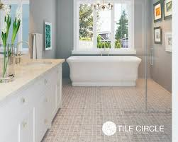 Marble Mosaic Floor Tile Upscale Bathroom In Chicago Incoporated Tile Circle S Carrara