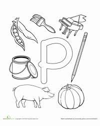 p is for worksheet education com
