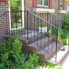 Outdoor Metal Handrails Exterior Porch Ideas By Porch Railing