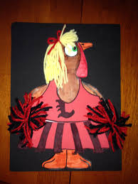 u of l cheerleader u0027 u0027disguise the turkey u0027 u0027 art project disguise
