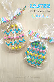 easter table favors party favor ideas easter rice krispies treats cookies honey lime