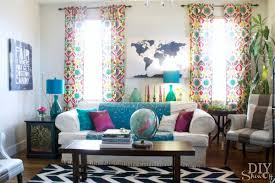 eclectic decorating colorful eclectic family room reveal diy show off diy