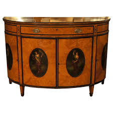 3007 satinwood adam style demilune commode chest drawers o