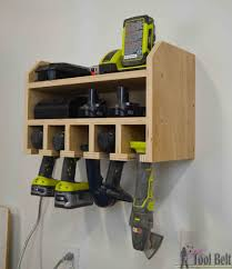 End Table With Charging Station by Cordless Drill Storage Charging Station Her Tool Belt