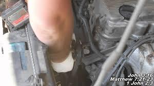 nissan pathfinder z24 engine water pump remove replacec
