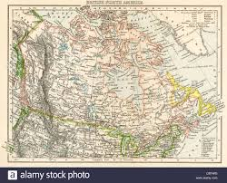 Map Of Canada by Map Of British North America Or The Dominion Of Canada 1870s