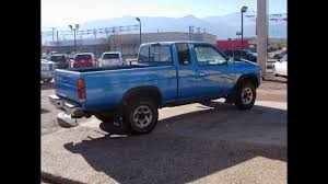nissan trucks blue 13076b 1995 nissan frontier se 4x4 for sale youtube