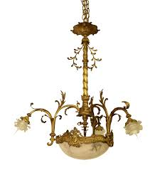 fleur de lis chandelier french alabaster chandelier new in stock antique 19th century