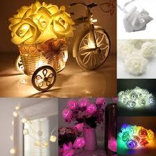 Wohnzimmer M El Ebay 2 5m Rose Blumen Mit 20 Leds Weihnachten Lichterketten Wohnzimmer