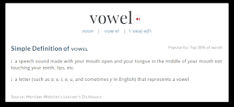 when is y a vowel when is y a consonant sporcle