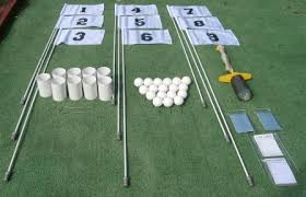 home golf supply for backyard golf or backyard putting green