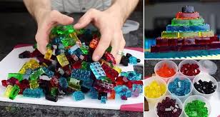learn how to make delicious stackable lego gummy candy