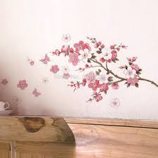 online buy wholesale pink bedroom accessories for adults from 2016 hot home decor room wall stickers pink cherry screen posters newly bedroom accessories mural adesivo