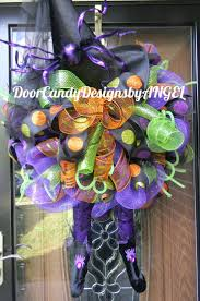Halloween Mesh Wreaths Ideas 93 Best Door Candy Designs By Angel Images On Pinterest Wreaths