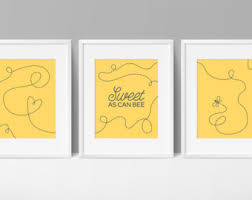 Bumble Bee Nursery Decor Sweet As Can Bee Etsy