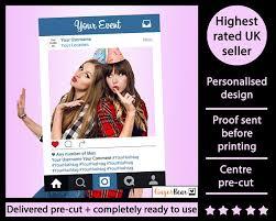 personalised wedding backdrop uk premium personalised printed instagram selfie frame