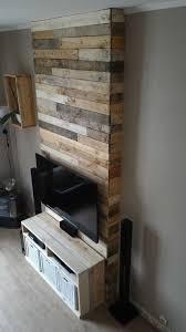 mur en bois de palettes entertainment center wall u2022 1001 pallets