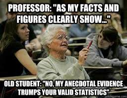 Funny Old Lady Memes - professor as my facts and figures clearly show old student