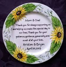 personalized wedding plate gift wedding gift for parents plate floral oval thank you and