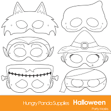 Free Printable Halloween Masks by Monster Mask Printable Paper Projects Secondgif Coloring Pages
