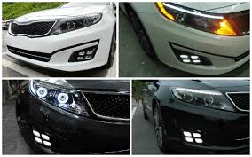 2013 kia optima led fog light bulb 2014 up kia optima led daytime running lights with oem painted