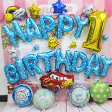 helium birthday balloons car foil helium balloons blue color happy birthday balloon for