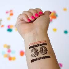 tattoo ideas birthdays dirty 30 tattoos personalized temporary tattoos dirty