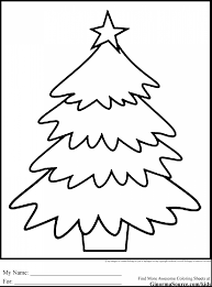amazing christmas tree coloring pages printable with tree coloring