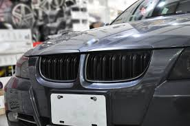 bmw e90 headlights double slats matte black front grille for bmw e90 e91 2005 08