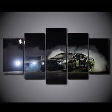 modern painting wall art 5 pieces monster energy car home decor hd