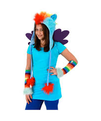 halloween hoodie my little pony rainbow dash hoodie girls hat girls costumes