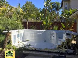 ground spa removal orange county and los angeles spa tub