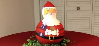 how to make a diy santa figure from a gourd ideas