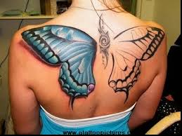 hd butterfly wings back for