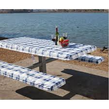 picnic table seat covers deluxe picnic tablecloth seat covers direcsource ltd 69047