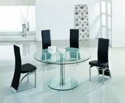 Dining Room Table For 6 Glass Round Dining Table For 6 Foter