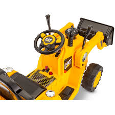 kidtrax cat bulldozer tractor 6v battery powered ride on yellow