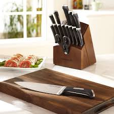 calphalon precision series 16 piece cutlery set with wood knife