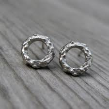 circle stud earrings twig circle stud earrings kristin coffin jewelry