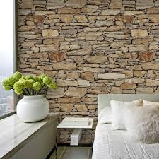 Decorate Bedroom With Tan Walls Aliexpress Com Buy Haokhome Vintage Faux Stone Brick Wallpaper