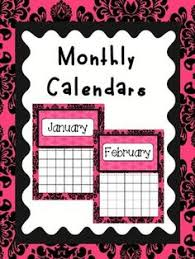 calendars teacher calendar template pretty calendars for your teacher notebooks this set includes