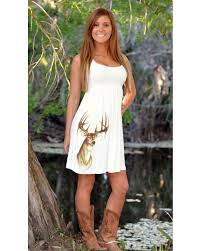 check out this cute off white country style deer dress with a