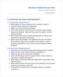 11 disaster recovery plan templates free sample example