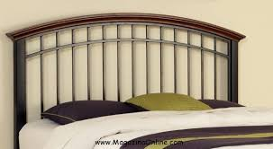 headboards made out of wood and metal votre