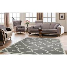 8 X 9 Area Rugs Ottomanson Contemporary Moroccan Trellis Gray 7 Ft 10 In X 9 Ft