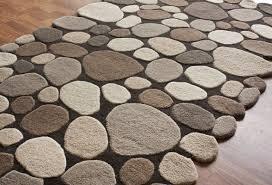 pebble rug loon peak alpert pebbles hand tufted dark brown area rug reviews