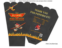 disney planes fire rescue movie birthday custom popcorn box
